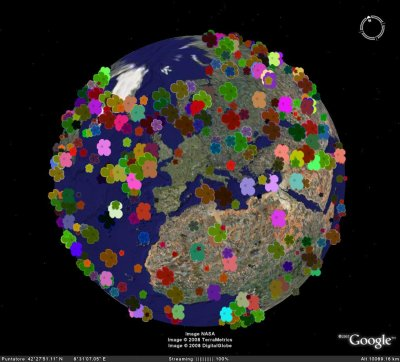 Google Earth screenshot of Flower is not the map
